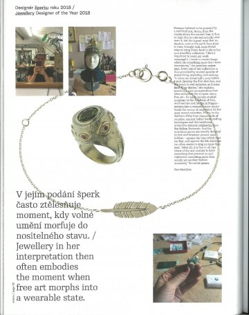 Yearbook of Czech Grand Design: Jewellery Designer of the Year 2018