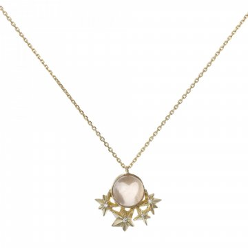 Star Necklace with Rose Quartz